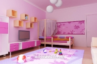 17. Бело-розовый интерьер детской