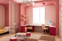 3. Розовая детская для младшего школьника