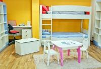 5. Детская комната для двух малышей с белой мебелью